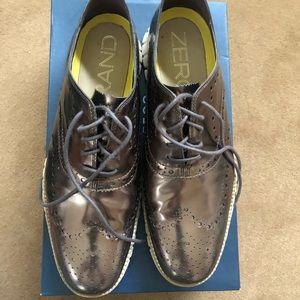 Cole Haan Zerogrand Bronx Metallic Men's Shoes 11